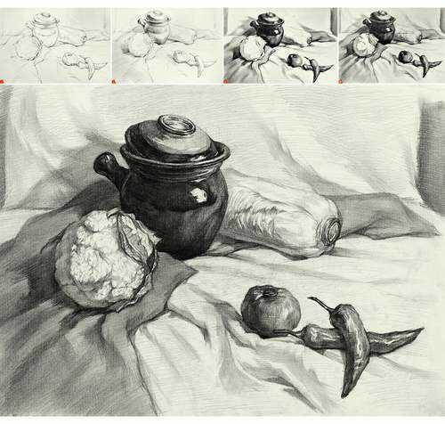 苹果素描图片素描静物图片苹果素描静物苹果临摹
