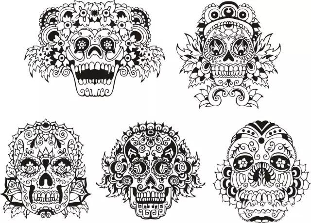 创意图形的那些事(附带川美高分试卷)   bioworkz黑白动物装饰插画