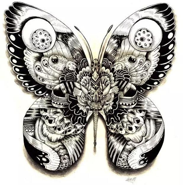 点线面黑白装饰画素材图片动物