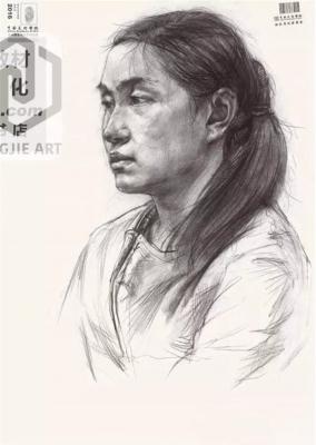 中国美术学院2016年素描头像高分试卷(三)