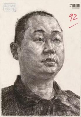 四川美术学院2016年素描头像高分试卷