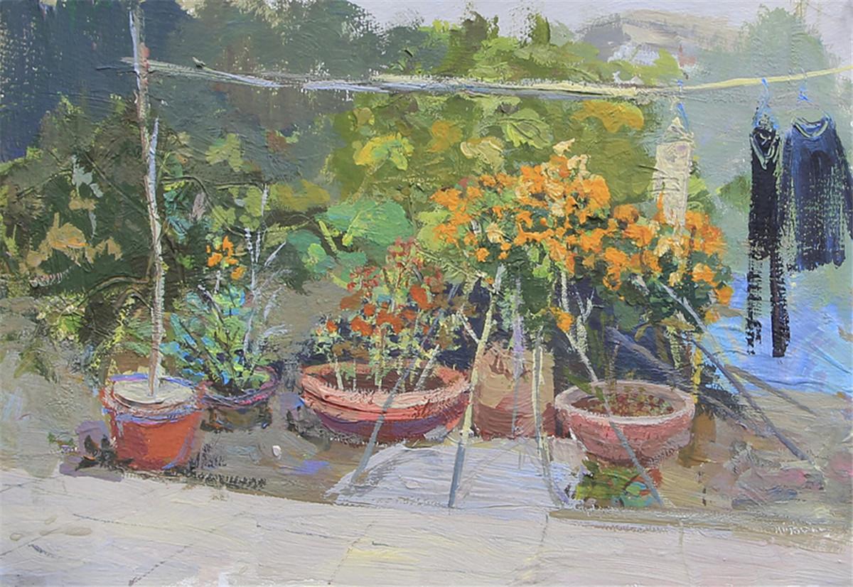 邵阳隆回家乡风景绘画