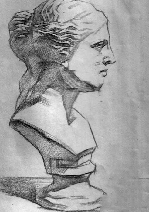 素描石膏 维纳斯步骤