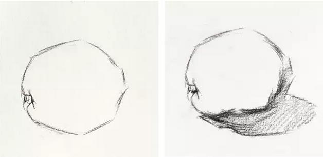 【2018美术联考必备】素描橙子步骤
