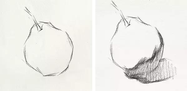 【2018美术联考必备】素描梨子步骤