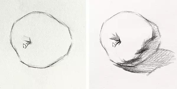 【2018美术联考必备】素描苹果侧面步骤
