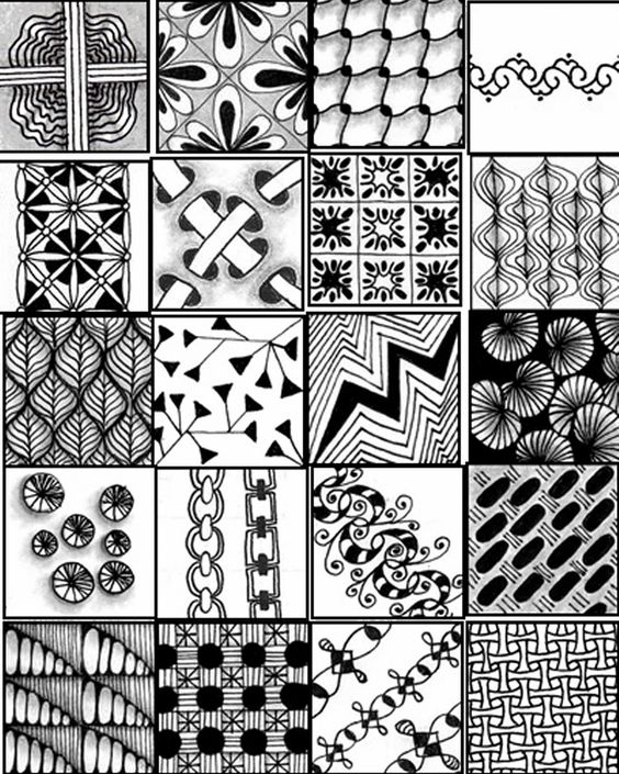 在前面画黑白装饰画的时候,会涉及到构图,点线面,装饰肌理,黑白灰