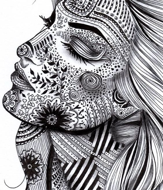 画好黑白装饰画重要的元素之装饰肌理!在这解决了!图片