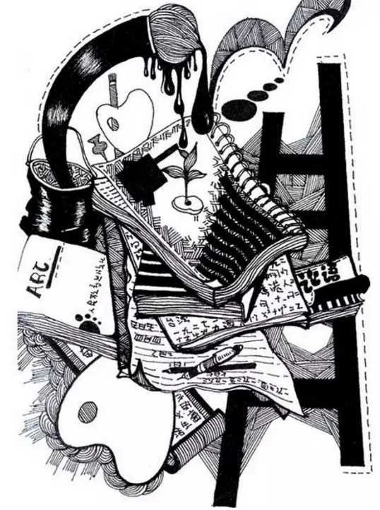 首页 美术高考 美考锦囊 > 正文    黑白画的表现内容很多,基本上人物