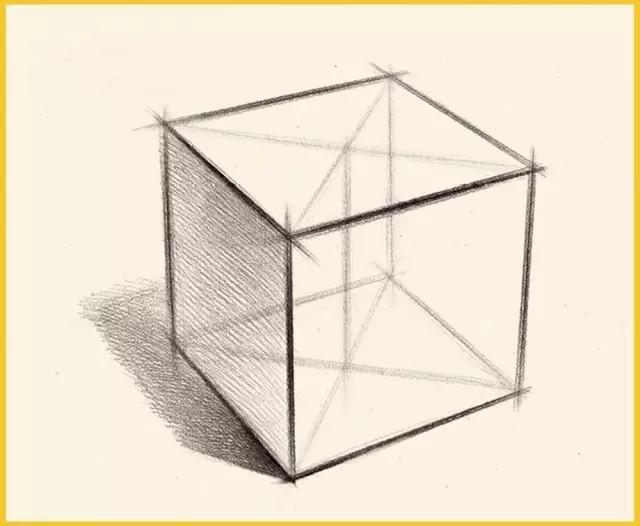 单个石膏几何体的结构要点和作画步骤! - 51美术高考网