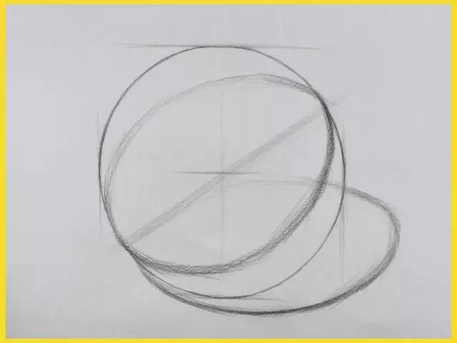 单个石膏几何体的结构要点和作画步骤