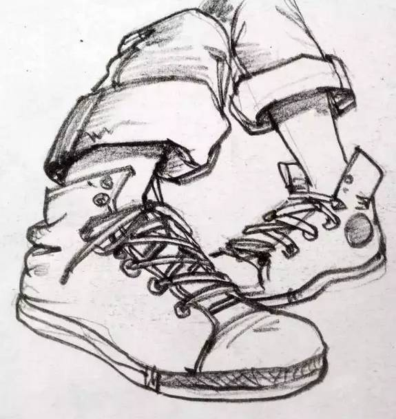 速写局部鞋子