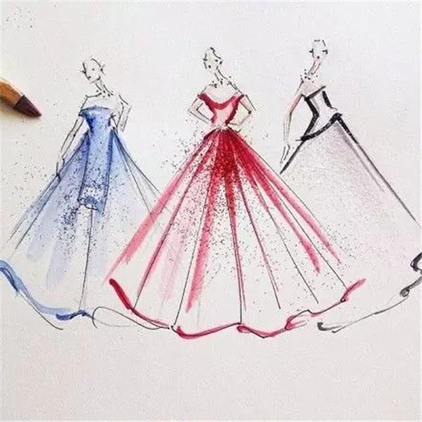 手绘服装设计稿 受欢迎指数