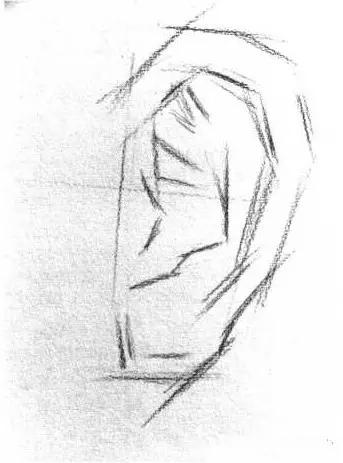 首页 艺术教育 美术学堂 素描教程 > 正文    正面耳朵的写生步骤