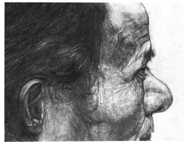 实景照片   女青年耳朵的写生步骤   女青年的耳朵外形柔美,变化
