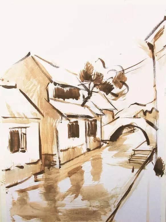 水粉风景写生步骤图51美术社-美术艺考生绘画学习交流