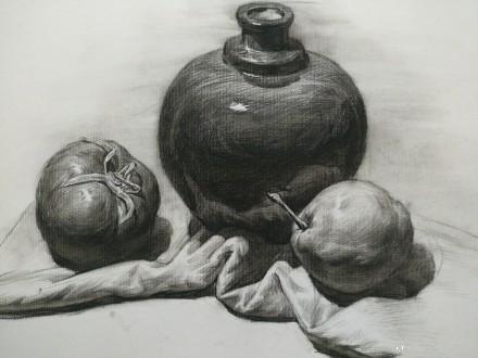 素描静物基础小教程,值得收藏 美术联考必备