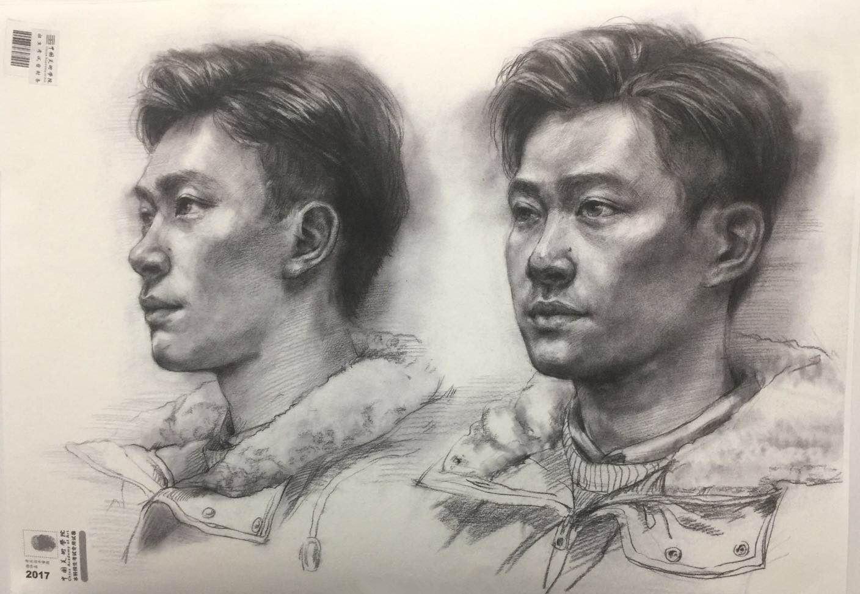 中国美术学院2017年素描高分试卷