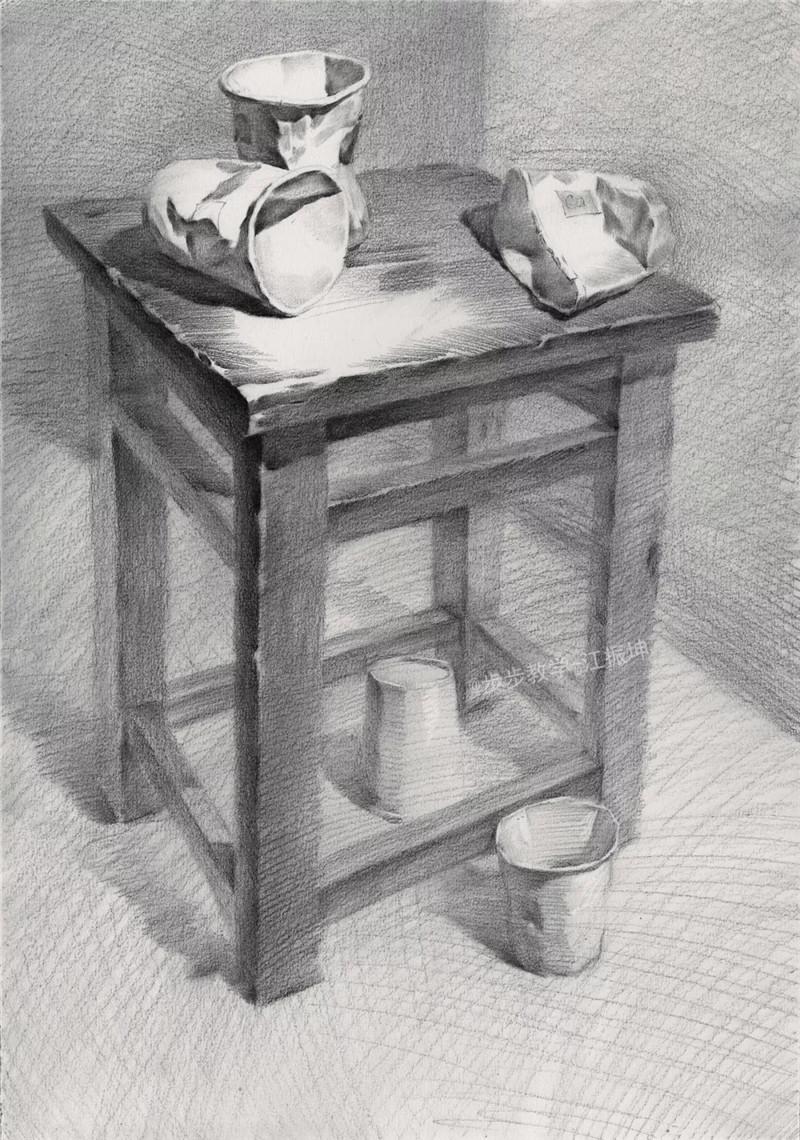 陶罐素描步骤教学